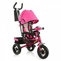 Трёхколёсный велосипед X-Rider с надувными колесами розовый