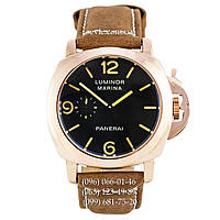 Механические часы Panerai Luminor 1950 Marina 3 Days Brown-Gold-Black унисекс с автоподзаводом