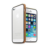 Бампер JCPAL Anti-shock Bumper 3 in 1 для Apple iPhone 5, 5s, SE (Set-Gold)