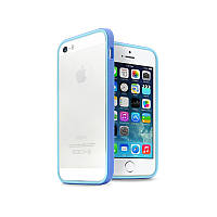 Бампер JCPAL Anti-shock Bumper 3 in 1 для Apple iPhone 5, 5s, SE (Set-Blue)