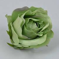 Головка розы 8 - 9см зеленая Цветы искусственные