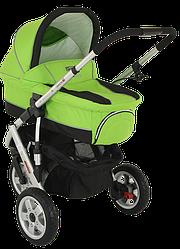 Детская коляска универсальная 2 в 1 Adamex Quatro 3 № 2 green (Адамекс Кватро, Польша)