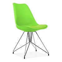 Стул Париж зеленый, стул дизайнерский мягкий Paris мягкое сиденье, ножки хромированные, 54*46,5*80,5 см