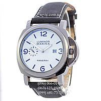Мужские кварцевые часы Panerai Luminor Marina Quartz Black-Mate-Silver-White