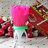 Раскрывающаяся музыкальная свеча для торта - Цветок / Музыкальная свеча Цветок Лотоса, фото 3