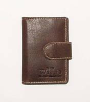 Кожаная визитница коричневая унисекс, кожаные изделия