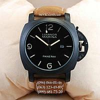 Мужские кварцевые часы Panerai Luminor Marina Quartz Classic Brown-Black-Black-Milk