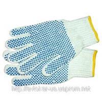 Перчатки трикотажные рабочие с точечным покрытием PVC на ладони