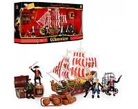 Пиратский набор - корабль с пиратами, пушкой и сокровищами.