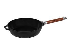 Сковорода глубокая чугунная  со съемной ручкой 24 см