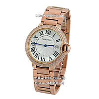 Часы Cartier Ballon Bleu de Date Crystals Rose Gold. Класс: AAA.