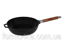 Сковорода чугунная глубокая со съемной ручкой 28 см