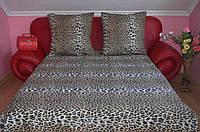 Качественное постельное белье леопардовое 100 % хлопок евро