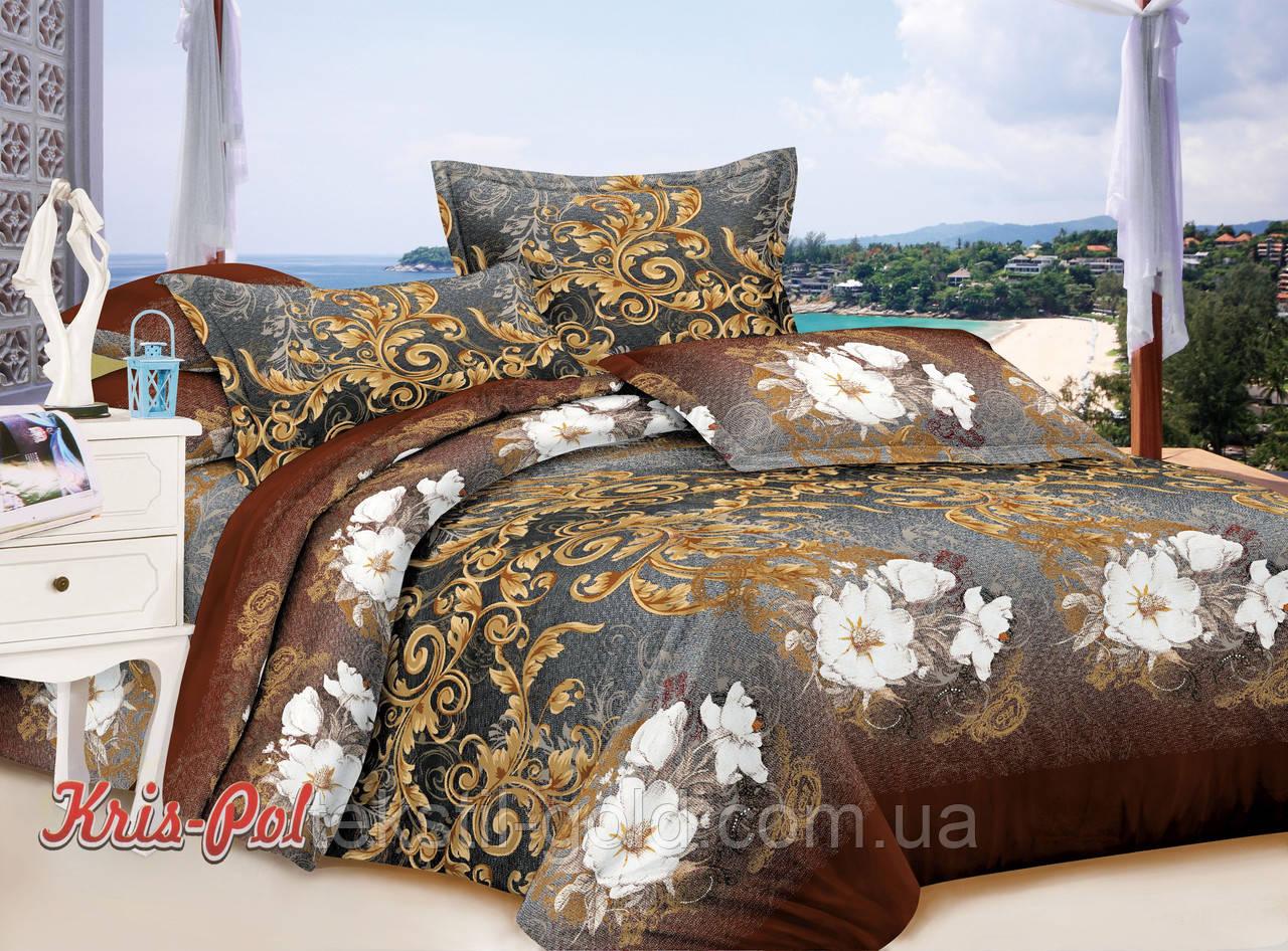 Комплект постельного белья полиэстер 3D ТМ KRIS-POL (Украина) полуторный 49859507