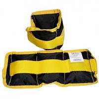 Утяжелители для рук и ног  черно-желтый вес 4.0 кг (2*2.0)