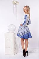 Платье ассиметричным низом