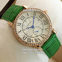 Часы Cartier Woman Dimonds Gold/White.