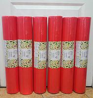 Простынь одноразовая Красная 0.60х100м. Плотность 20г\м + чехол на резинке 08х2м