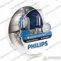 Лампа галогенная Philips H11 Diamond Vision 5000K 12362DVS2