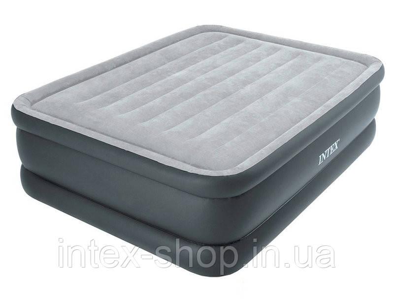 Надувная кровать со встроенным электрическим насосом 220В 152х203х51см, Intex 64140