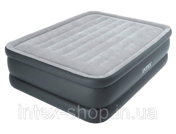 Надувная кровать со встроенным электрическим насосом 220В 152х203х51см, Intex 64140, фото 2