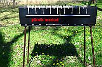 """Мангал-чемодам """"Вакула"""" из высококачественной стали 2мм на 10 шампуров"""