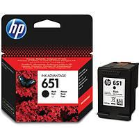 Картридж HP №651 (C2P10AE), Black, DJ Ink Advantage 5575/5645/OfficeJet 202, OEM