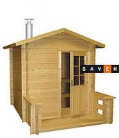 Отдельная сауна домик Kuikka с дров.каменкой Harvia 20PRO+дымоход 2000мм