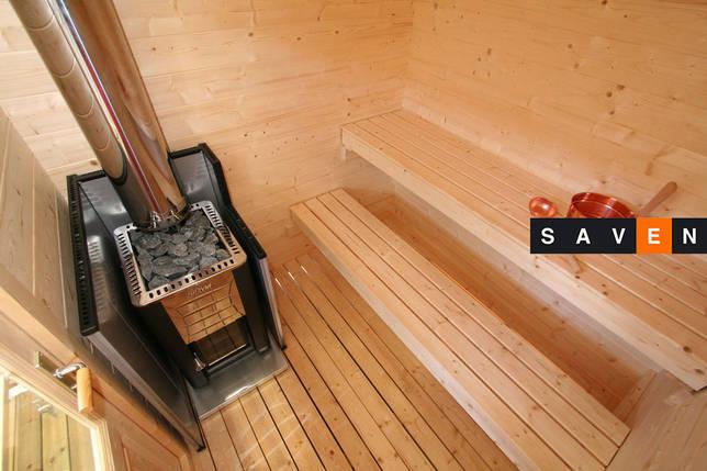Отдельная сауна домик Kuikka с эл.каменкой Senator T9+пульт С150, фото 2