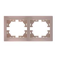 Рамка 2-ая горизонтальная без вставки 701-0303-147 Lezard Mira (кремовый)
