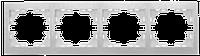 Рамка 4-ая горизонтальная без вставки 701-0202-149 Lezard Mira (белый)