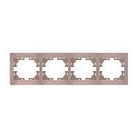Рамка 5-ая горизонтальная без вставки 701-0303-150 Lezard Mira (кремовый)