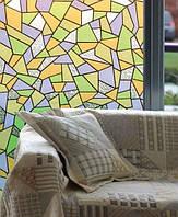 Самоклейка, мозаика, разноцветная, PATIFIX,  витражная для стекол, 45 cm