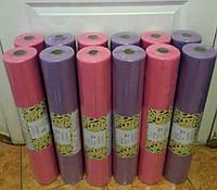 Простыни одноразовые розовая и сиреневая 0.60х100м. Плотность 20г\м + чехол на резинке 08х2м