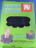 Мягкий коврик для домашних животных Paw Print Litter Mat