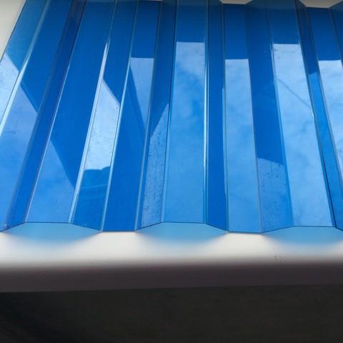 Синий   профилированный  поликарбонат  1,05*6м