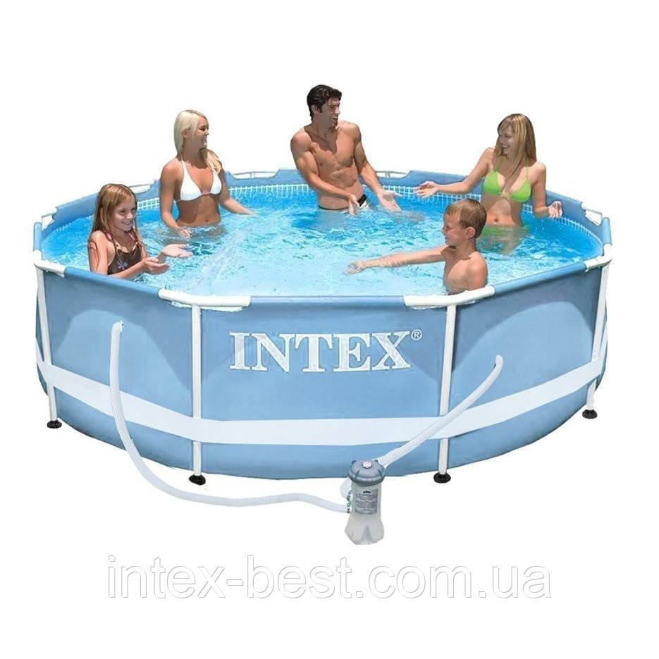 Intex 28702 - каркасный бассейн Prism Frame 305x76 см + фильтр-насос