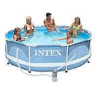 Каркасный бассейн Intex 28702 Prism Frame + фильтр насос (305x76 см.)