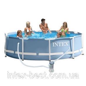 Intex 28702 - каркасный бассейн Prism Frame 305x76 см + фильтр-насос, фото 2