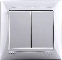 Выключатель 2-й LEMANSO Сакура