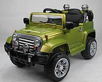 Джип на радиоправлении T-7813 GREEN с MP3 110*61*63, электромобиль детский
