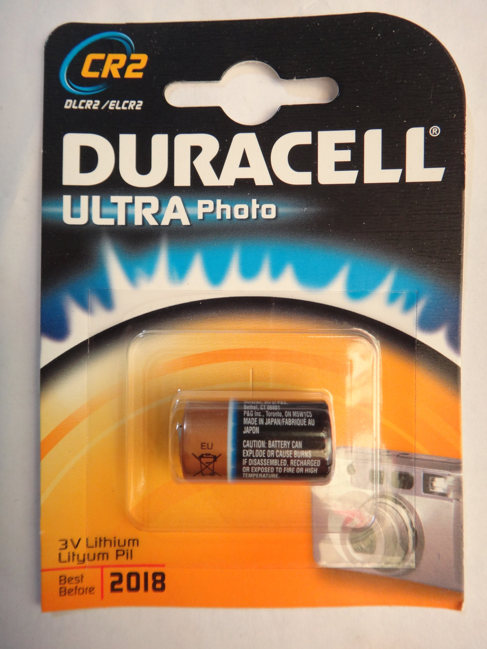 Батарейка CR2 3v Lithium DURACELL ULTRA Photo Lityum Pil DLCR2/ELCR2 CR123A 6205