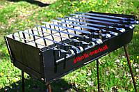 Разборной мангал-чемодан на 10 шампуров с шампурами 10 шт.