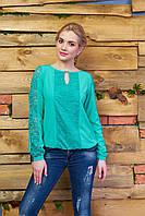 Стильная женская бирюзовая блуза Сима Arizzo 44-46 размеры