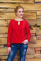Стильная женская красная блуза Сима Arizzo 44-52 размеры