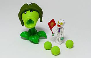 Игрушки Растения против зомби, горохострел в шлеме