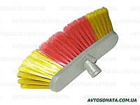 Щетка для мытья машины серая 6 рядов без ручки