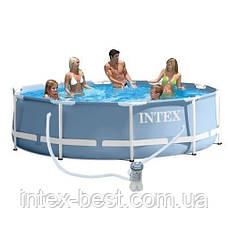 Intex 28712 - круглый каркасный бассейн Prism Frame 366x76 см, фото 2
