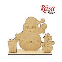 "Набор заготовок на подставке ""Дед мороз и снеговик"", 16,7*15,5*5 см, МДФ, ROSA Talent, 4801485"