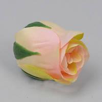 Бутон розы 5см нежно - розовый Цветы искусственные